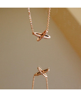 "COLLAR ""X"" ROSE GOLD"