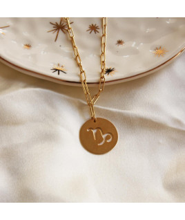 COLLAR DE MONEDA SIGNO ZODIACAL